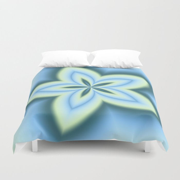 String Art Flower in MWY 01 Duvet Cover