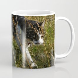Mr Fred moving through the high, dry grass Coffee Mug