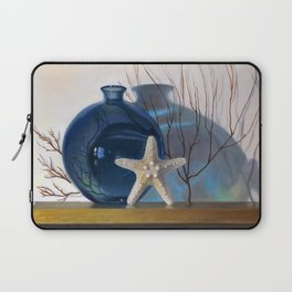Still life with a blue vase and a starfish Laptop Sleeve