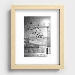 Let it Go Recessed Framed Print