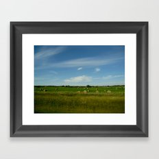 Summertime in WaterValley Framed Art Print