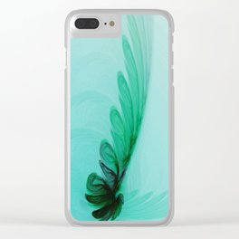 With Brave Wings She Flies Clear iPhone Case