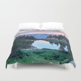 Hikers Bliss Perfect Scenic Nature View \ Mountain Lake Sunset Beautiful Backpacking Landscape Photo Duvet Cover