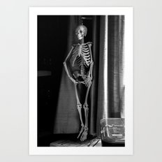 The Skeleton by the Printer Art Print