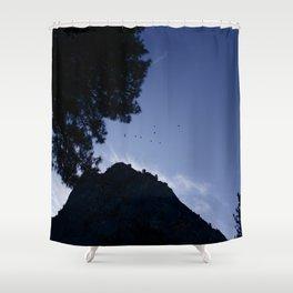 Birds Flying Over Yosemite Shower Curtain