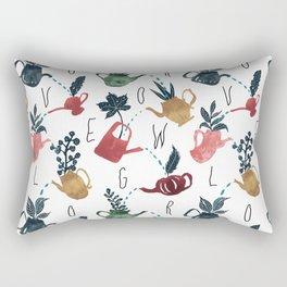 Grow Love - Plant Pattern Rectangular Pillow