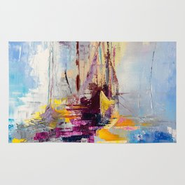 Illusive boats Rug
