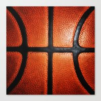 basketball Canvas Prints featuring Basketball by alifart