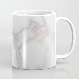 Elegant blush tones pink rose gold white marble Coffee Mug
