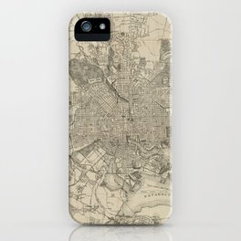 Vintage Map of Baltimore MD (1919) iPhone Case