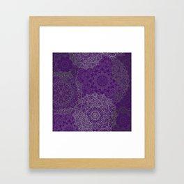 Purple Mandalas Framed Art Print