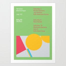 Terrasse Electronique - July 1/2 Art Print