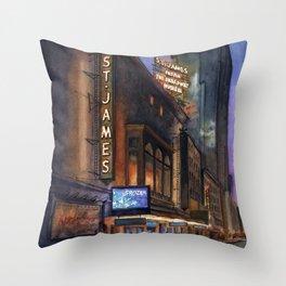 St. James Frozen Marquee Throw Pillow