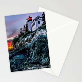 Bass Harbor Light in Acadia National Park Stationery Cards