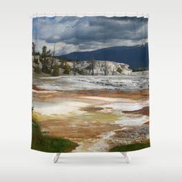 Grassy Spring View Shower Curtain