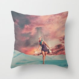 Fading into the Light Throw Pillow