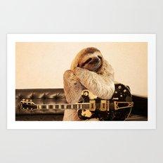 Rockstar Sloth Art Print