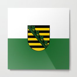 flag of Sachsen (historic state) Metal Print