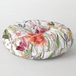 Bright spring field. Romantic pattern Floor Pillow