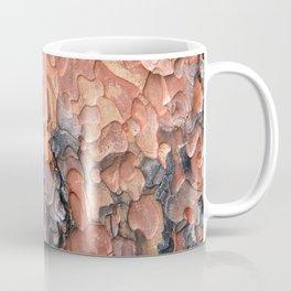 Close up texture of Ponderosa Pine Tree bark peeling Coffee Mug