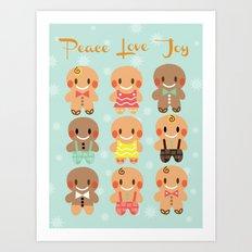Gingerbread Love Art Print