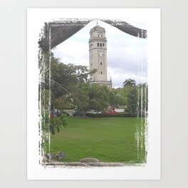 The UPR main tower - Rio Piedras Puerto Rico Art Print