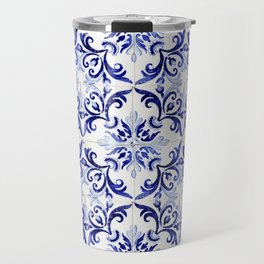Azulejo V - Portuguese hand painted tiles Travel Mug