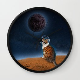 Meowter Space Wall Clock