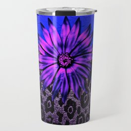 Purple Animal Print and Medallion Travel Mug
