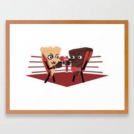 Pie VS Cake Framed Art Print