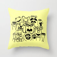 muppet Throw Pillows featuring Muppet line by BlackBlizzard