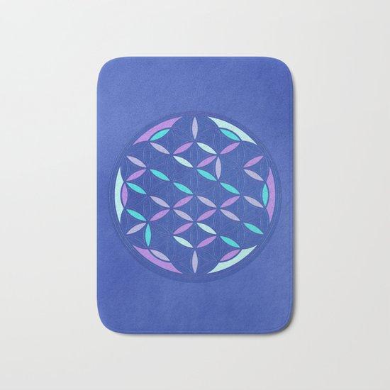Flower of life 2017 blue Bath Mat