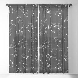 Zodiac Constellations Sheer Curtain