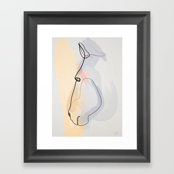 One line Horse 1711 c
