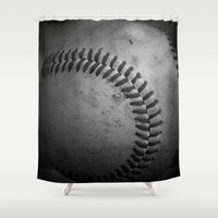baseball Shower Curtains featuring Baseball by Christy Leigh