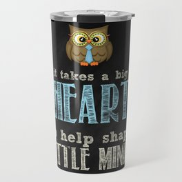 Big heart blue Travel Mug