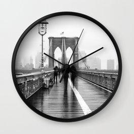 Brooklyn Bridge Walk Wall Clock