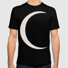 crescent moon Mens Fitted Tee X-LARGE Black