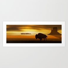 The lonely bison Art Print
