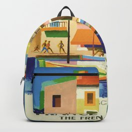 Vintage poster - French Riviera Backpack