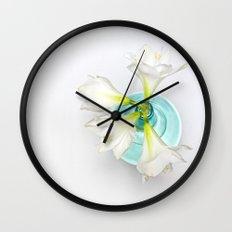 Wonderful white Amaryllis... Wall Clock
