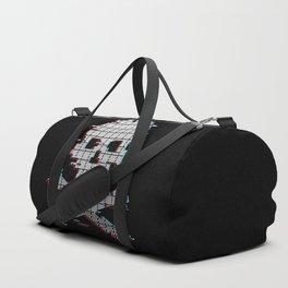 Stereo 8bit glitch crossbones Duffle Bag