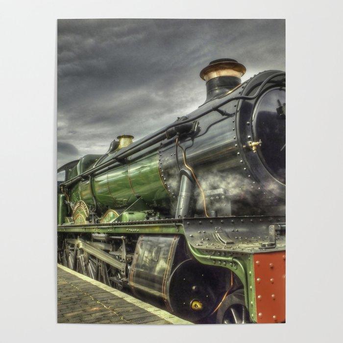 Steam Locomotive 4936 Kinlet Hall Poster