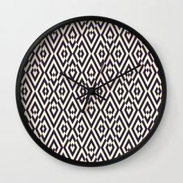 Diamond Shaped Tiles Geometric Seamless Pattern Wall Clock