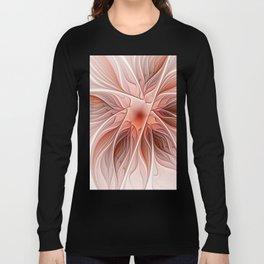 Flower Decoration, Abstract Fractal Art Long Sleeve T-shirt