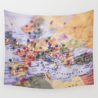 explore Wall Tapestries featuring Explore by Tana Helene