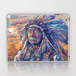 native american portrait-red cloud Laptop & iPad Skin
