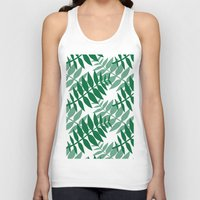 green pattern Tank Tops featuring Green by JuniqueStudio