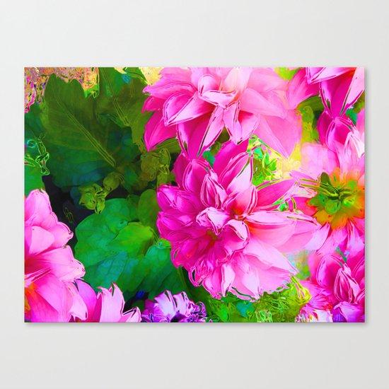 Hot Dahlia's Canvas Print