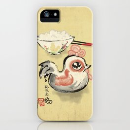 The Asian Chicken Rice Bowl iPhone Case